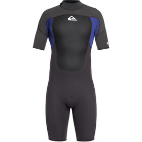 Quiksilver 2/2mm Prologue Springsuit rits achter Heren, jet black/nite blue
